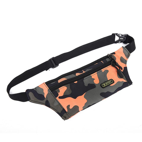 Portable Army Pattern Unisex Waist Pack Men Waist Zipper Bag Hip Casual Fanny Pack Travel convenient for Mobile Phone Wallet and money Travel Bag