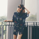 Mae Floral Shirt Dress