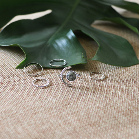 Teryn Marble Ring Set
