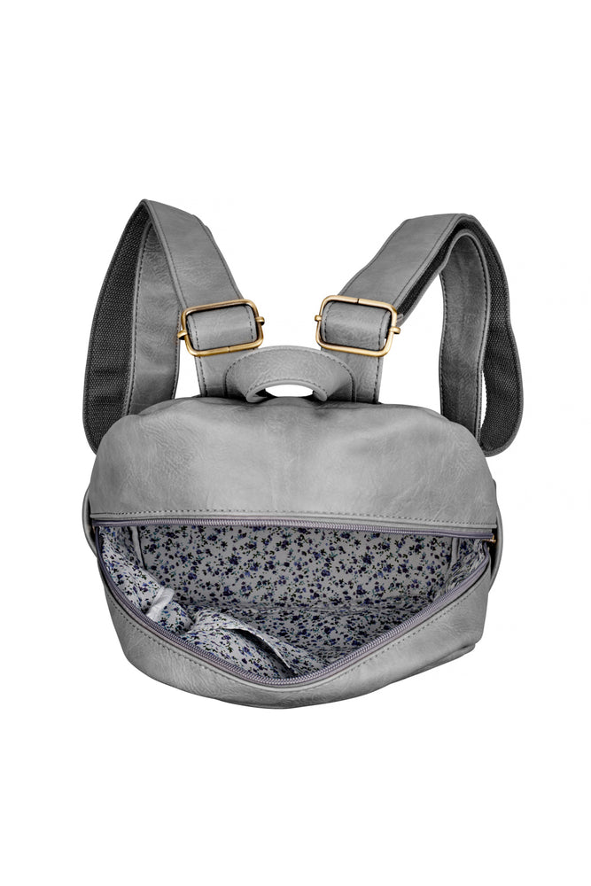 Darcey Backpack - Grey - Ollie & Nic