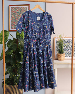 Swirling Fishes Dress - Multi