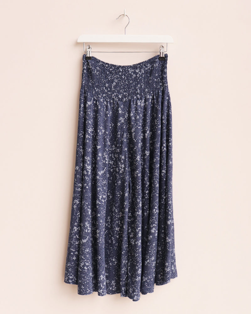 Load image into Gallery viewer, Anya Floral Wide Leg Culottes - Navy
