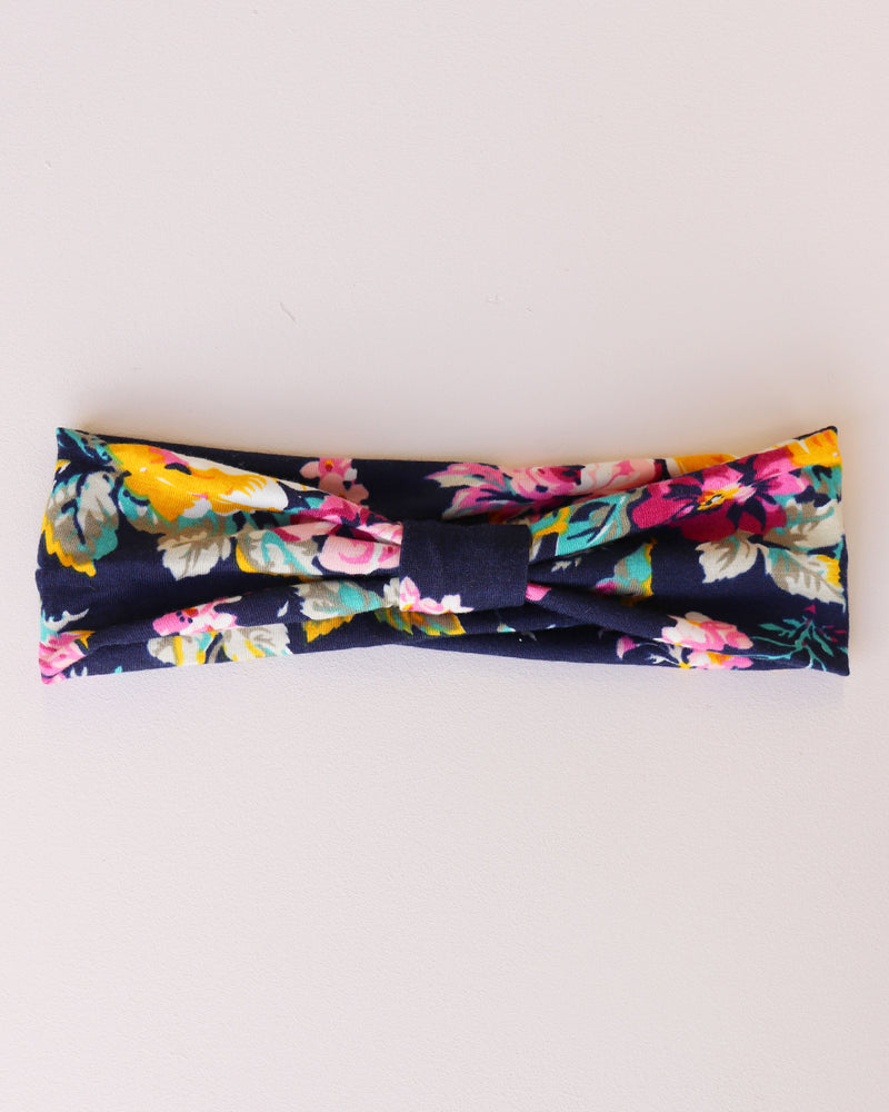 Load image into Gallery viewer, Rose Print Bandeau - Navy