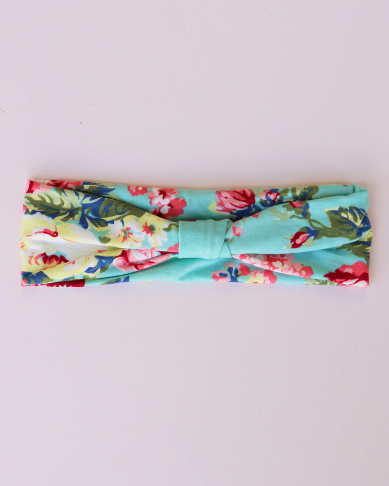 Load image into Gallery viewer, Rose Print Bandeau - Mint