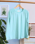 Stacey Lace Long Sleeve Tee - Mint