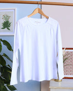 Stacey Lace Long Sleeve Tee - White