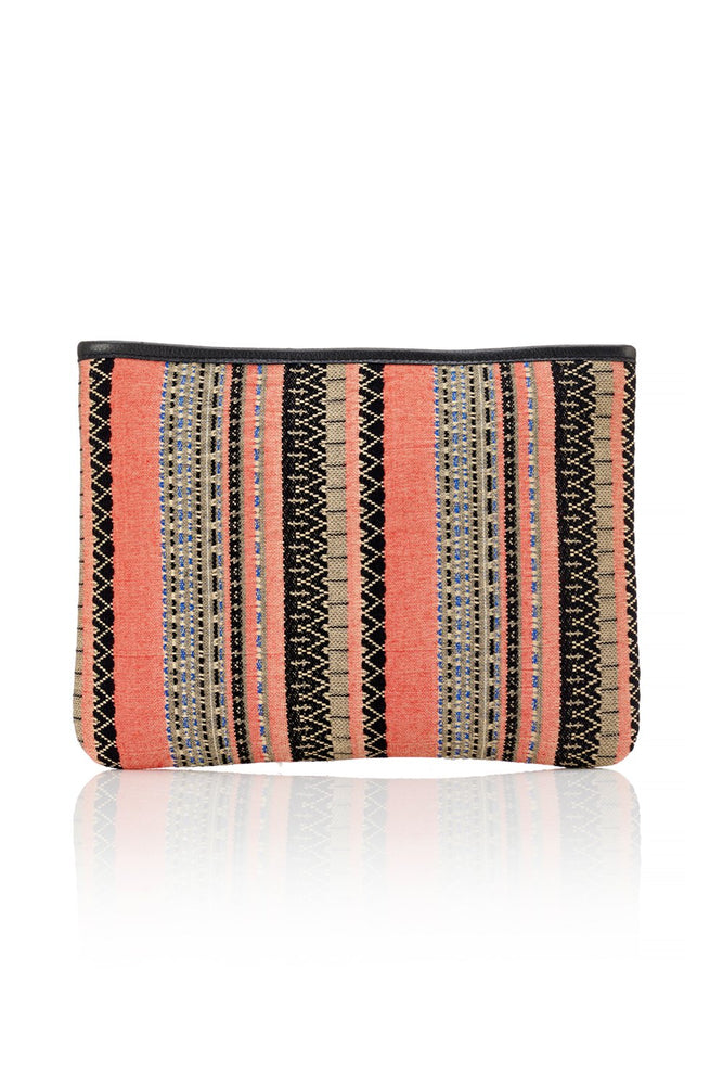 Beach Pouch - Coral / Black