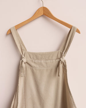 Load image into Gallery viewer, Delia Corduroy Dungarees - Beige