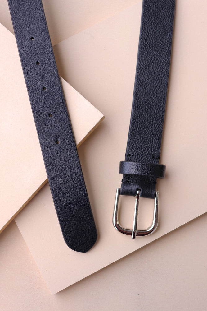 Belt - Black Leather - Ollie & Nic