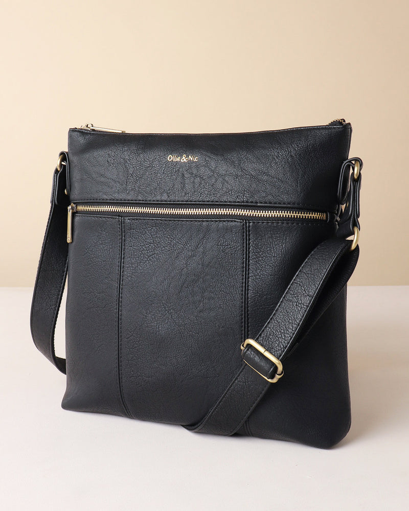 Blake Large Crossbody - Black - Ollie & Nic