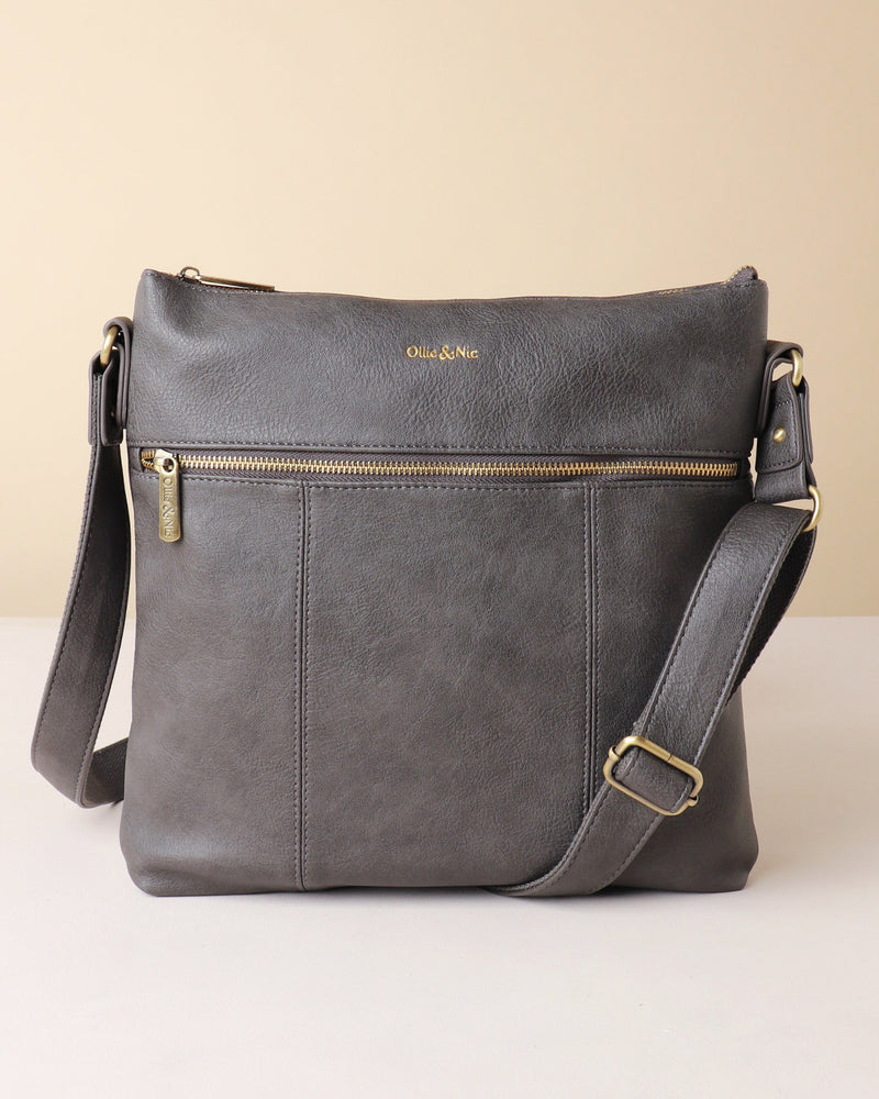 Blake Large Crossbody - Grey - Ollie & Nic