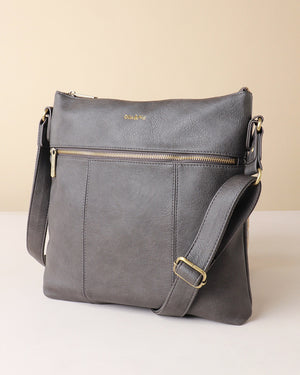 Load image into Gallery viewer, Blake Large Crossbody - Grey - Ollie & Nic
