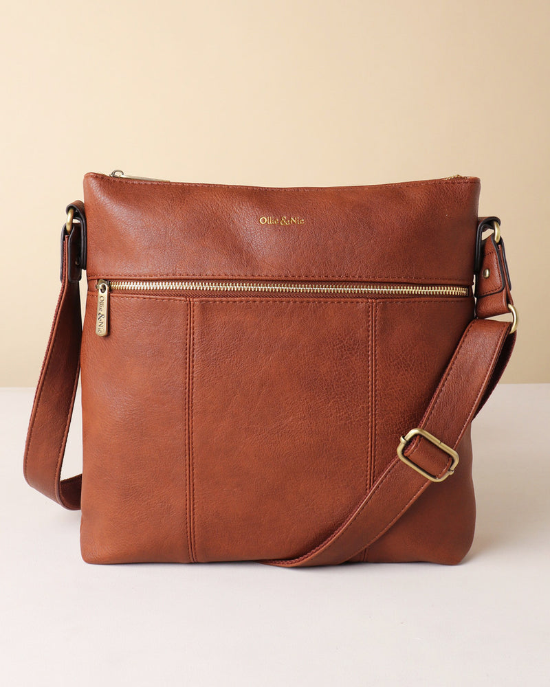 Blake Large Crossbody - Tan