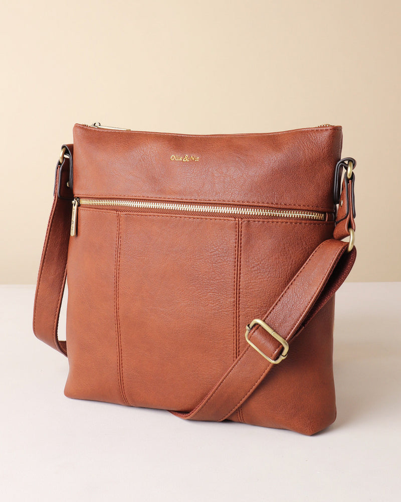 Load image into Gallery viewer, Blake Large Crossbody - Tan - Ollie & Nic