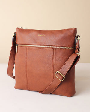 Blake Large Crossbody - Tan - Ollie & Nic