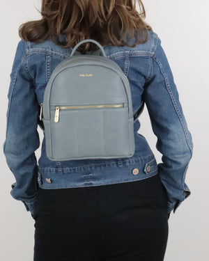 Blake Mini Backpack - Grey - Ollie & Nic