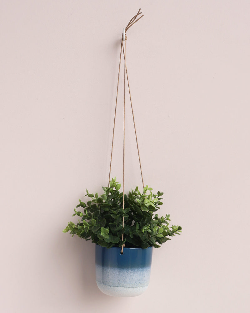 Mojave Hanging Planter - Blue