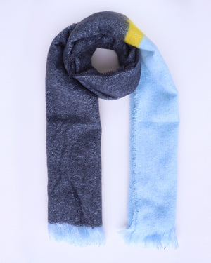 Bianca Colour Block Scarf - Navy - Ollie & Nic