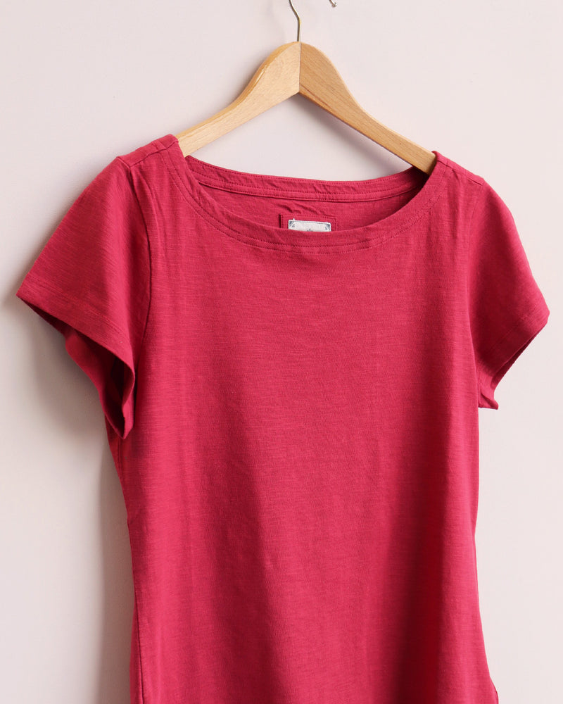 Load image into Gallery viewer, Boat Neck Tee - Rouge