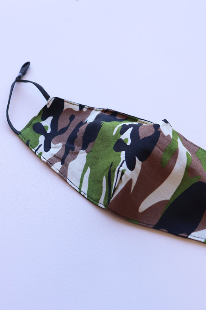 Load image into Gallery viewer, Camo Print Facemask - Multi - Ollie & Nic