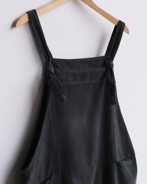 Load image into Gallery viewer, Delia Corduroy Dungarees - Charcoal