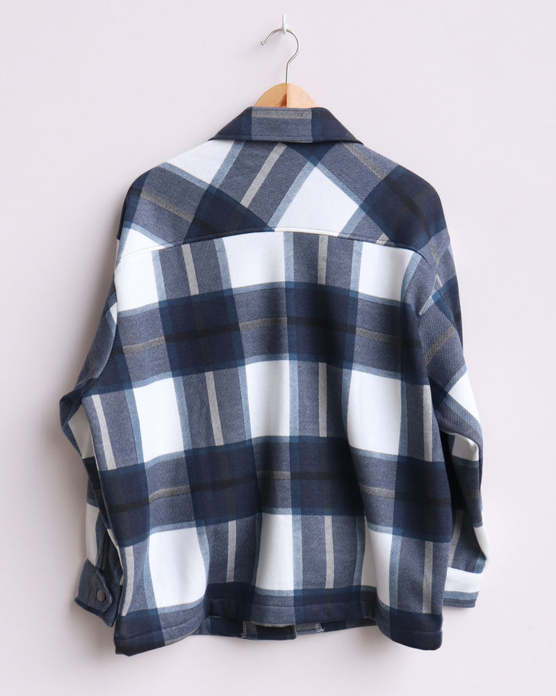 Load image into Gallery viewer, Martha Checked Shacket - Navy