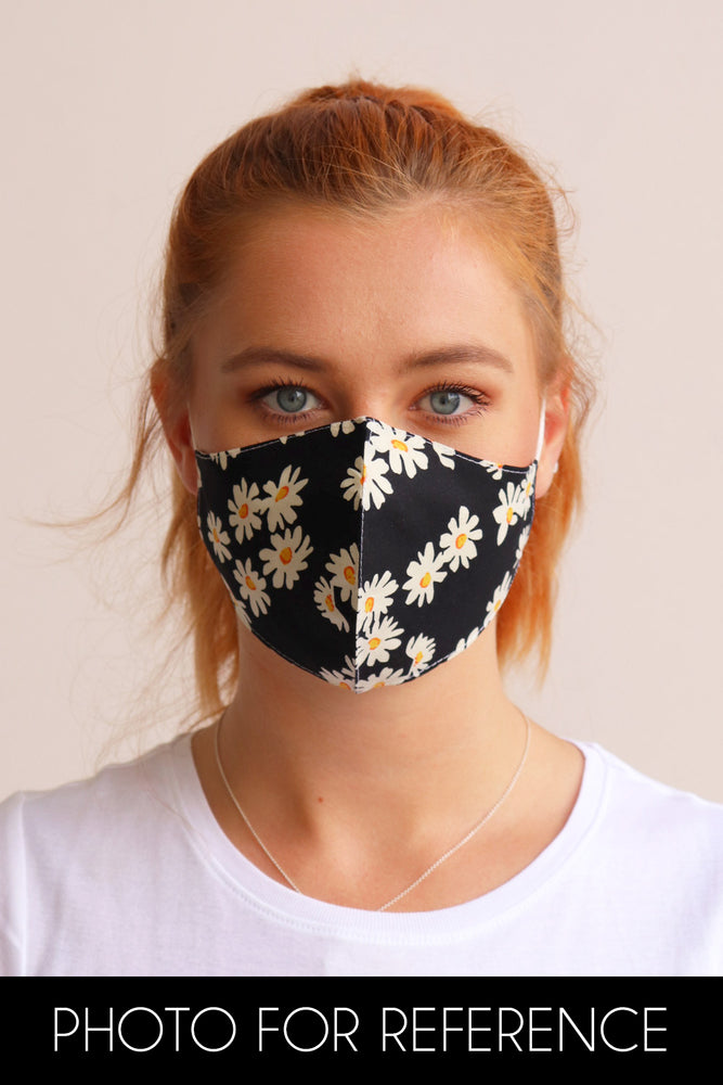 Block Colour Facemask - Black - Ollie & Nic