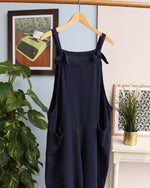 Dani Cropped Dungarees - Navy
