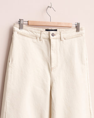 Denim Culottes - Ecru White