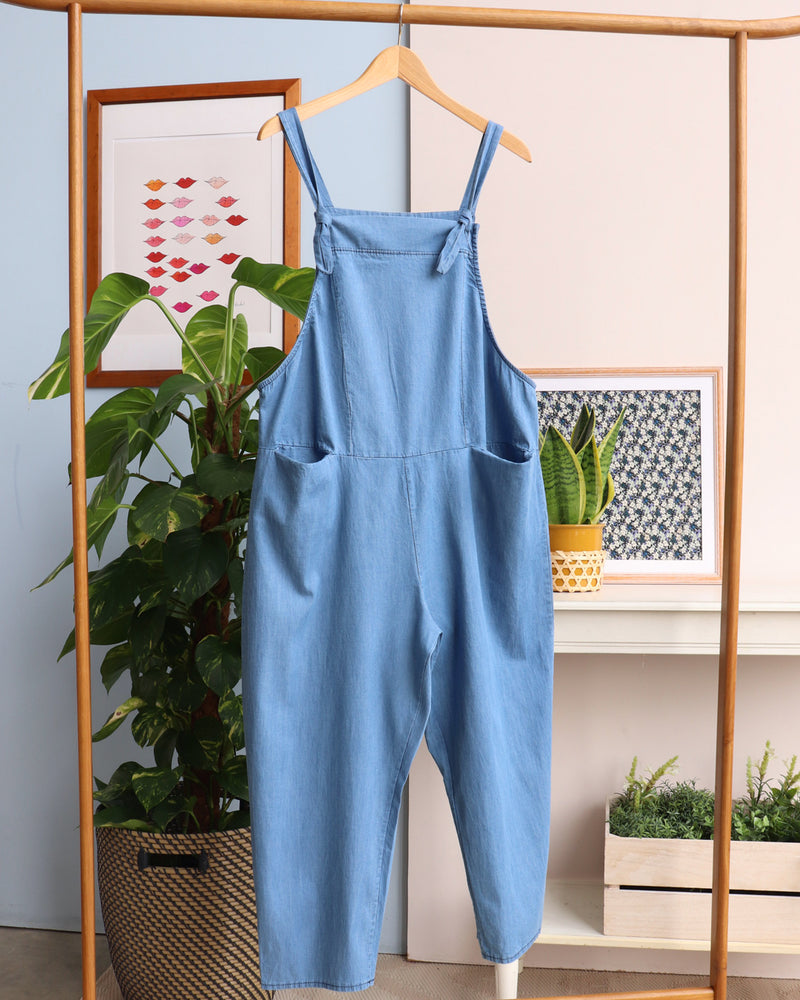Darcy Dungarees - Light Denim