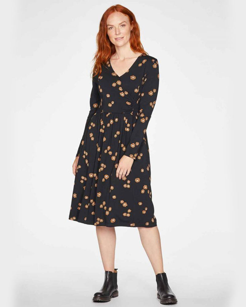 Everly Wrap Dress - Black