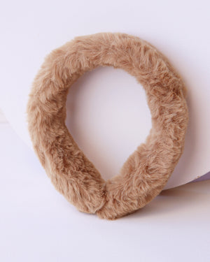 Load image into Gallery viewer, Faux Fur Headband - Camel