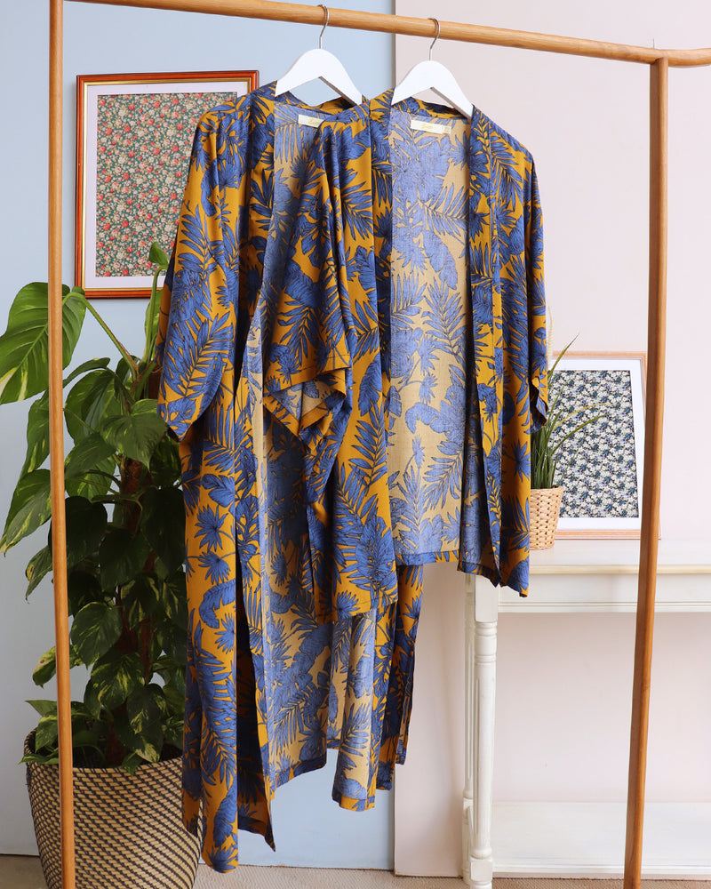 Load image into Gallery viewer, Long Florence Kimono - Mustard