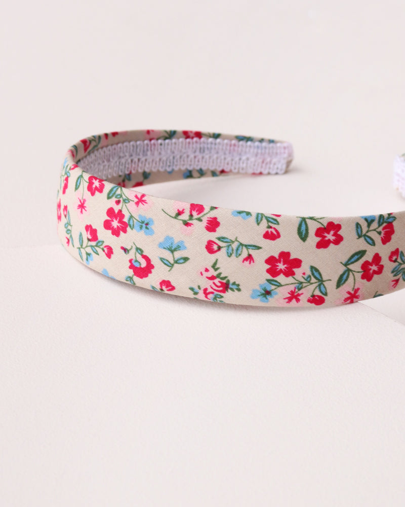 Simple Floral Headband - Beige
