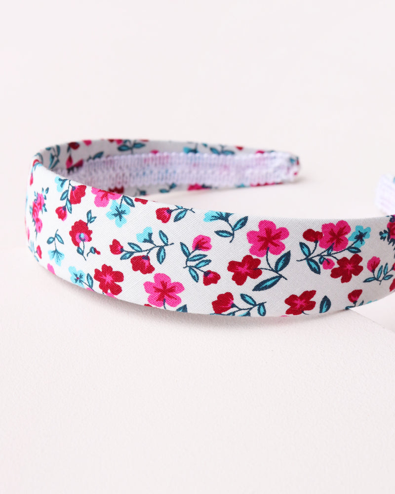 Simple Floral Headband - White
