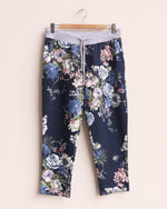 Faye Floral Print Joggers - Navy