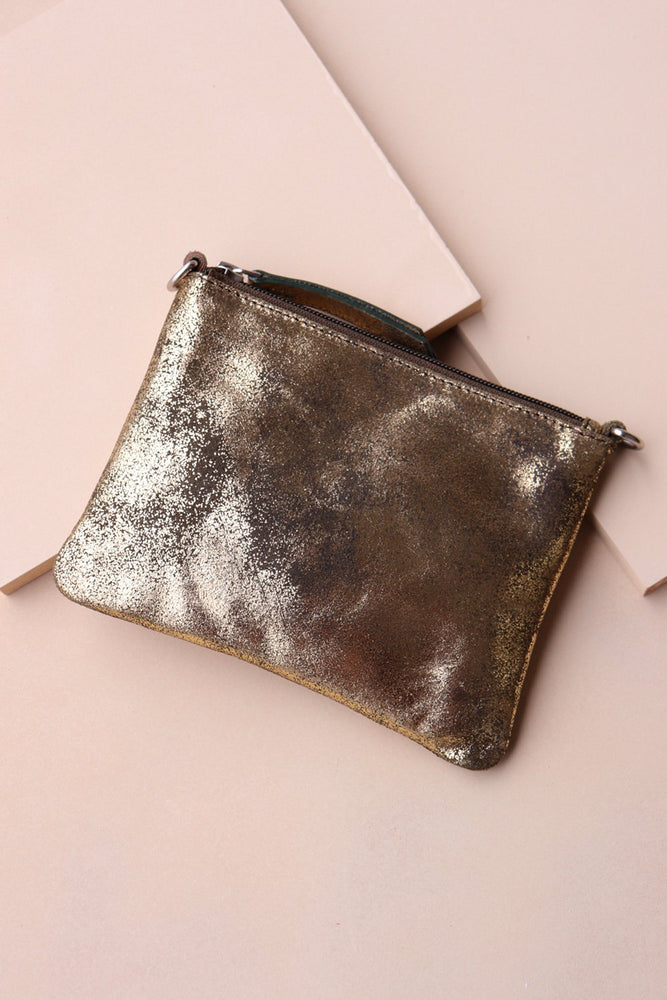 Load image into Gallery viewer, Crossbody Pouch - Gold / Olive - Ollie & Nic