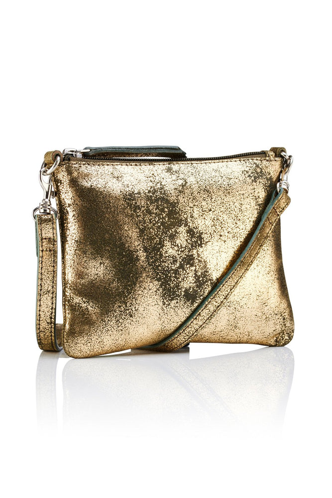 Crossbody Pouch - Gold / Olive - Ollie & Nic
