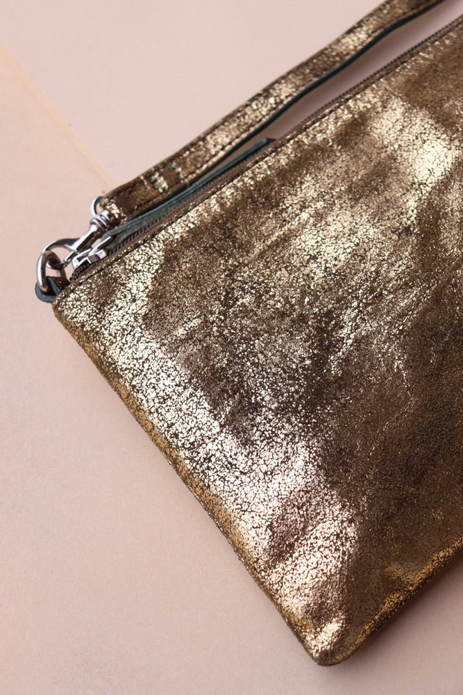 Small Crossbody Bag - Gold / Olive - Ollie & Nic