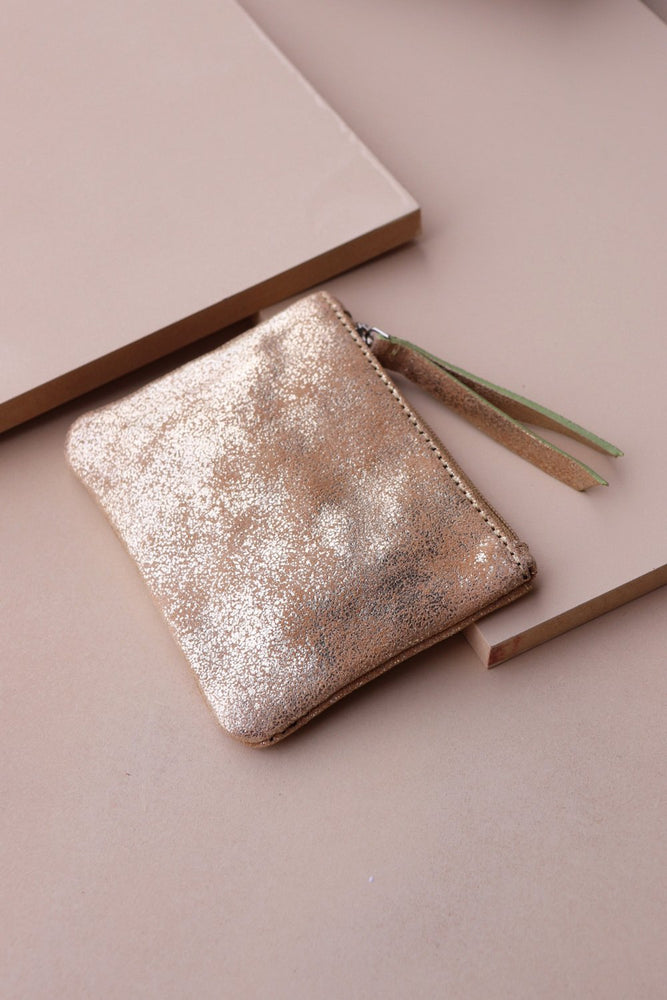 Coin Purse - Gold / Taupe - Ollie & Nic