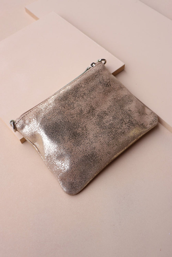 Crossbody Pouch - Gold / Taupe