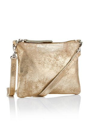 Crossbody Pouch - Gold / Taupe - Ollie & Nic
