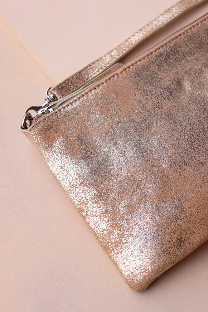 Load image into Gallery viewer, Small Crossbody Bag - Gold / Taupe - Ollie & Nic