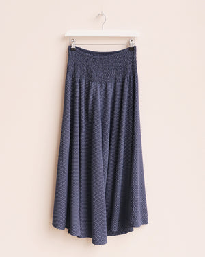 Load image into Gallery viewer, Ida Dot Print Wide Leg Culottes - Navy