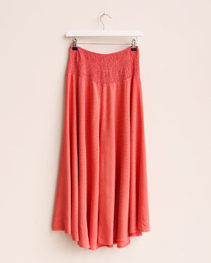 Load image into Gallery viewer, Ida Dot Print Wide Leg Culottes - Coral