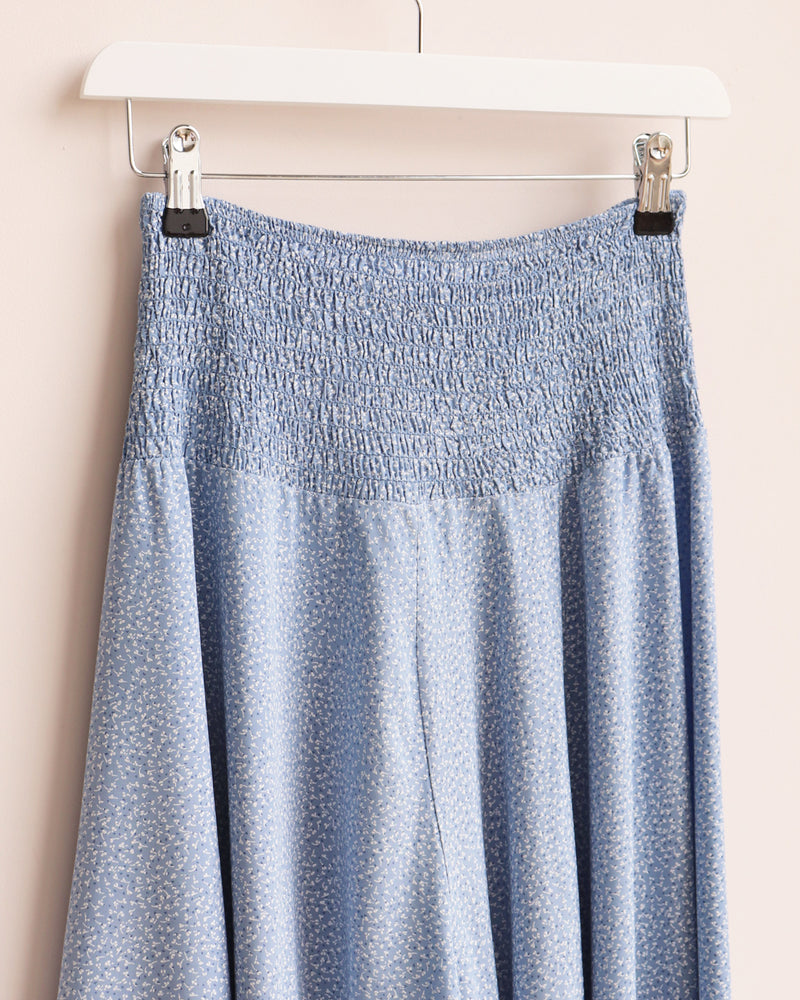 Load image into Gallery viewer, Jorja Ditsy Print Wide Leg Culottes - Denim Blue