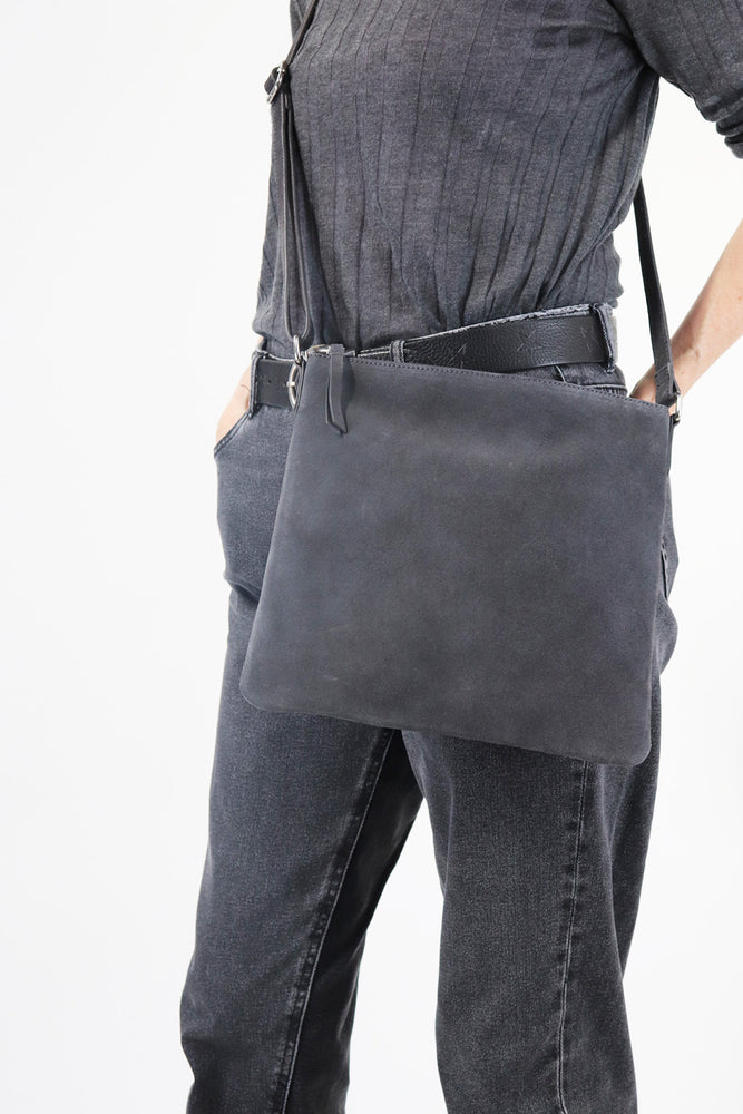 Large Crossbody Bag - Grey - Ollie & Nic
