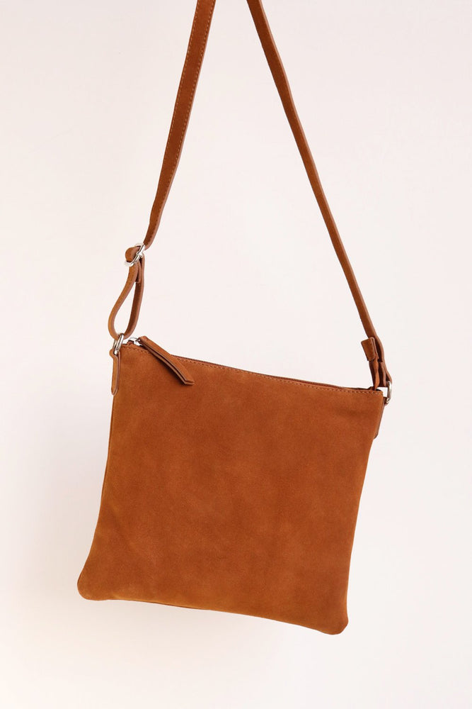 Large Crossbody Bag - Tan - Ollie & Nic