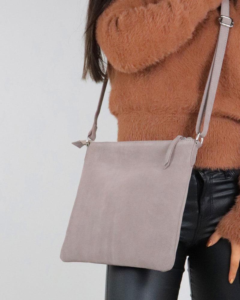 Large Crossbody Bag - Taupe - Ollie & Nic
