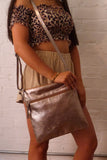 Hill + How - Large Cross Body Bag - Light Gold